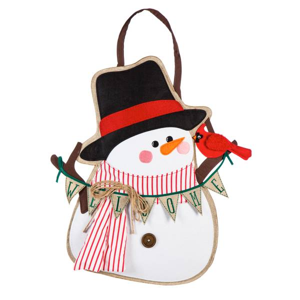 "24"" x 14"" Portly Snowman Door Decor"