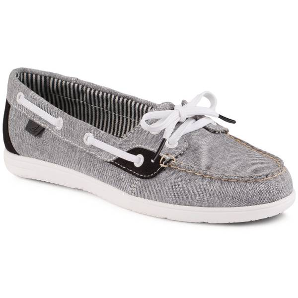 Women's Black Shoresider Boat Shoes