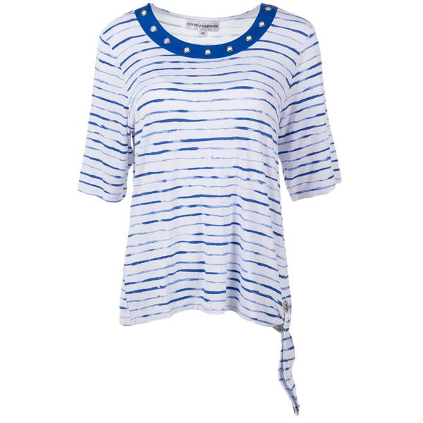 Misses 3/4 Sleeve Stripe Top Shirt