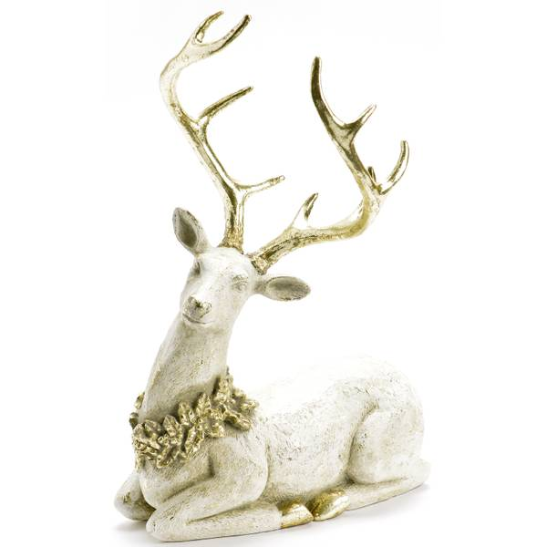 """12.25"""" Lying Down Deer Figure"""
