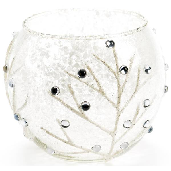 White Tree Glass Candle Holder