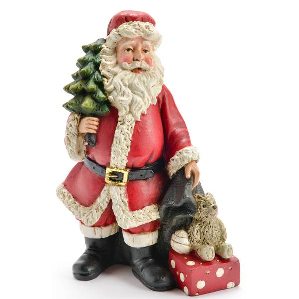 """6"""" Resin Santa Figure"""