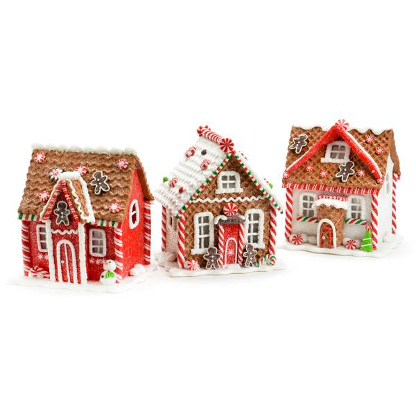"5.5"" LED Gingerbread House Assorted"
