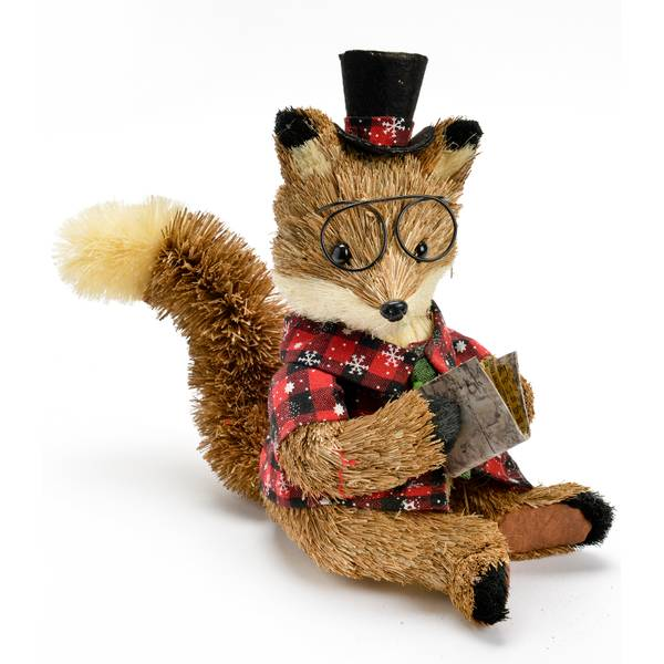 """9"""" Sitting Fox with Hat"""