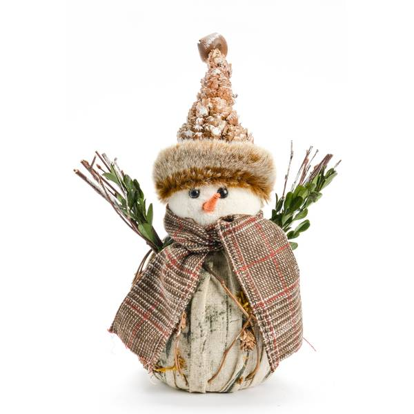 Fabric Snowman with Scarf