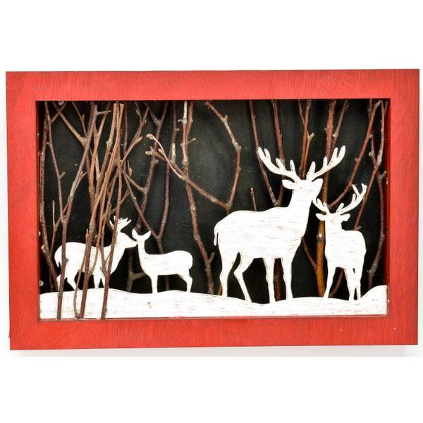 LED Deer Plaque
