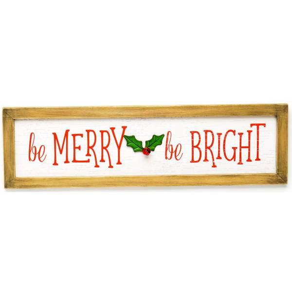 Be Merry Be Bright Wood Sign