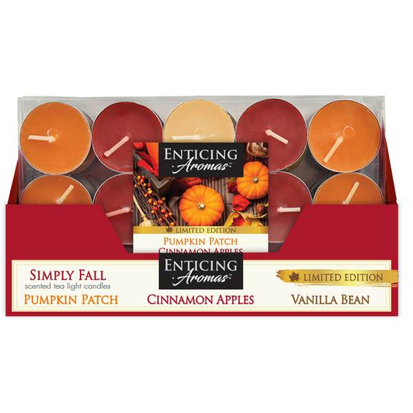 15-Count Simply Fall Fragranced Tealights