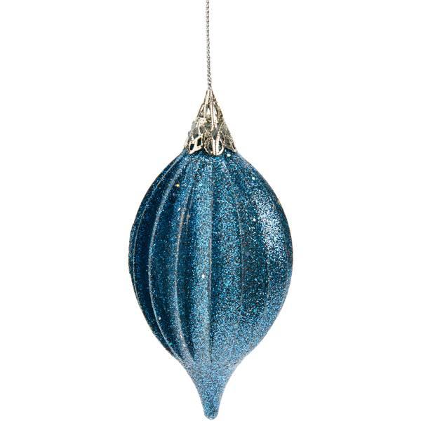 "4.5"" Blue Teardrop Ornament"