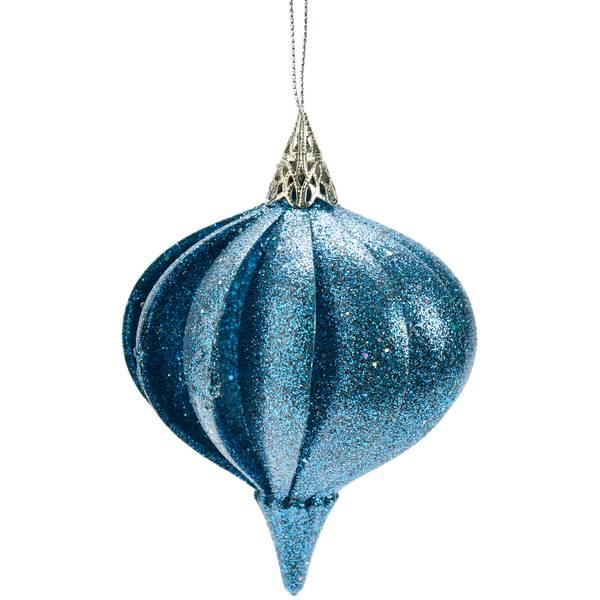 """4.25"""" Blue Top Ornament"""