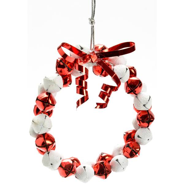 Red/White Jingle Bells Ornament