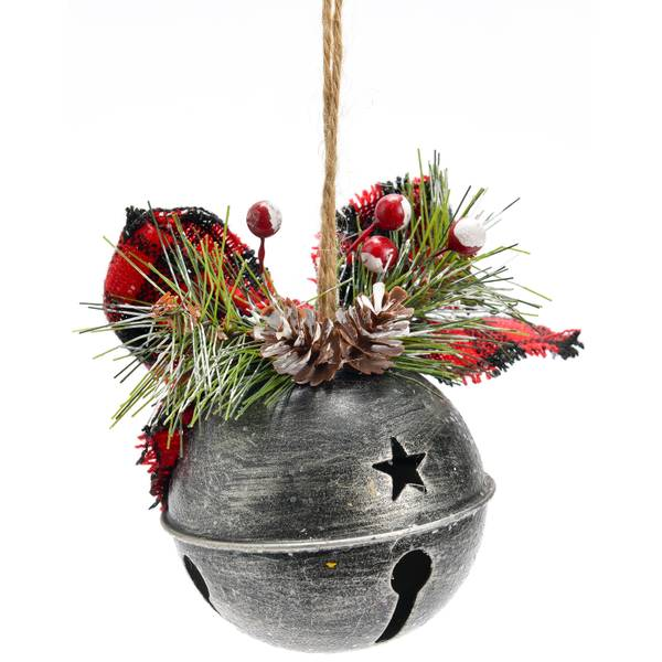 Iron Jingle Bell with Accents Ornament