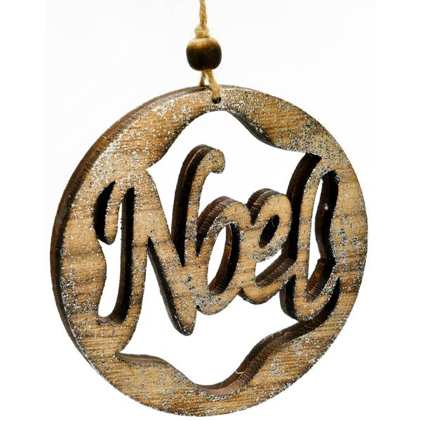 "5"" NOEL Wood Ornament"