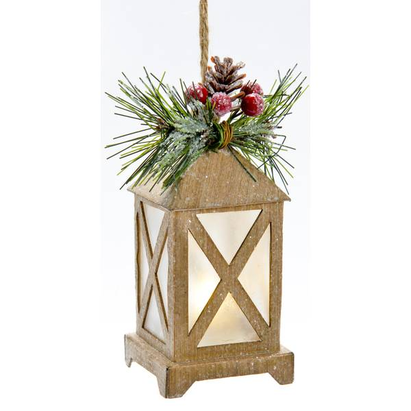 "4.75"" LED Paper Lantern Ornament"