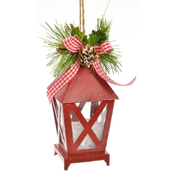 "6"" Red Lantern Ornament"