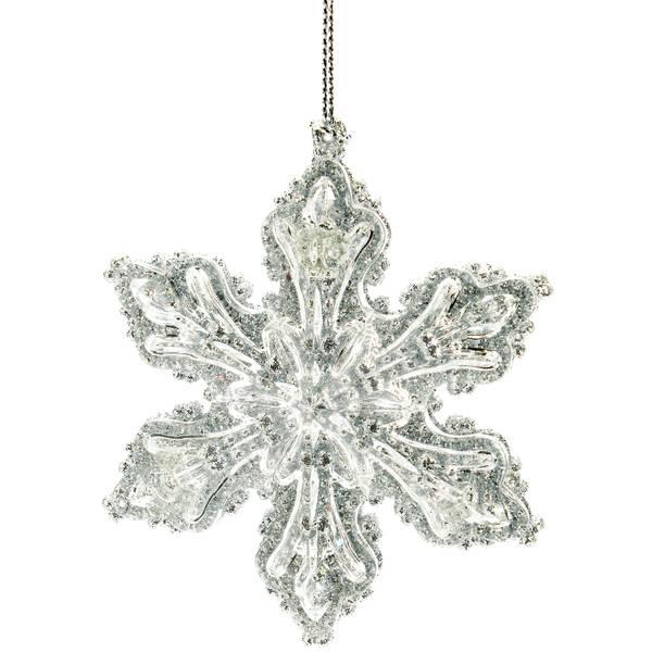 """3"""" Silver Snowflake Ornament"""
