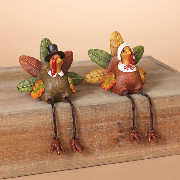 "6.5"" Resin Turkey Shelf Sitter Assortment"