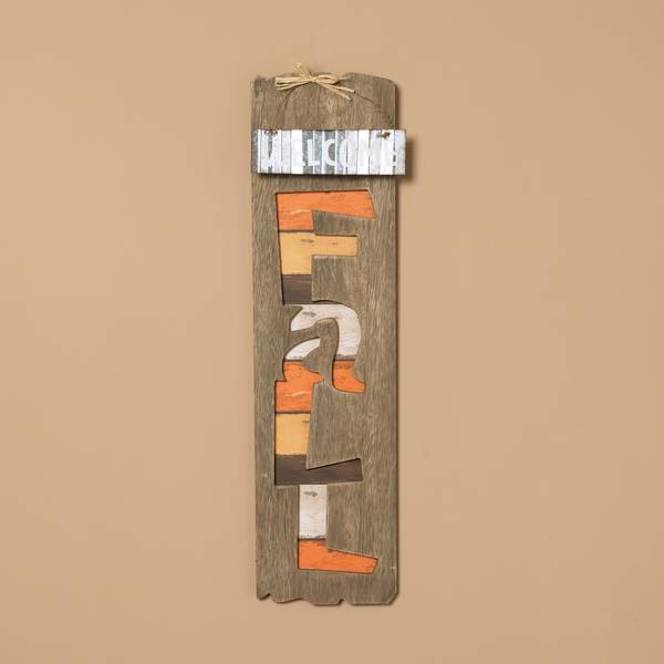 "23.5"" Wood & Metal FALL Hanging Sign"