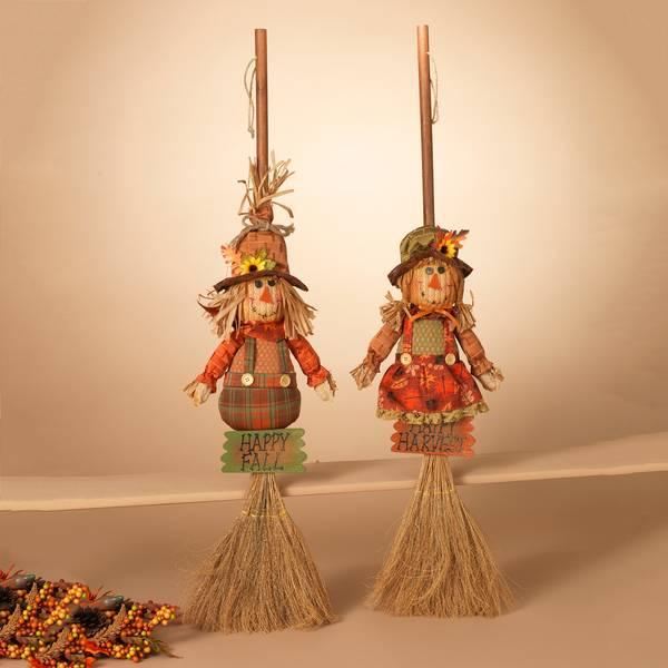 "40"" Harvest Scarecrow Broom Assortment"