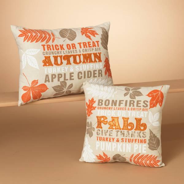 "14"" Fabric Harvest Design Pillow Assortment"