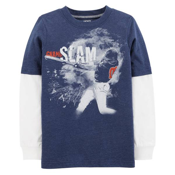 Boy's Baseball Layered-Look Tee