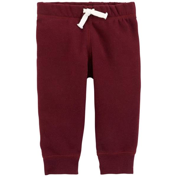 Infant Boys' Burgundy Fleece Pants