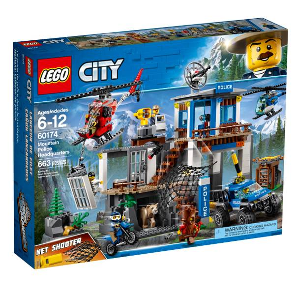 60174 City Police Mountain Headquarters