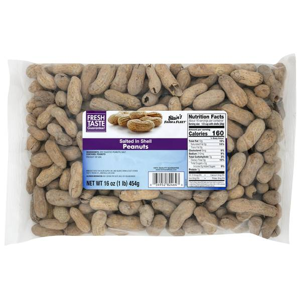 16 oz Salted in Shell Peanuts