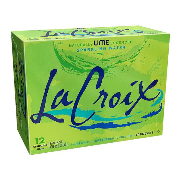 12-Pack Lime Sparkling Water