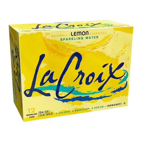 12-Pack Lemon Sparkling Water