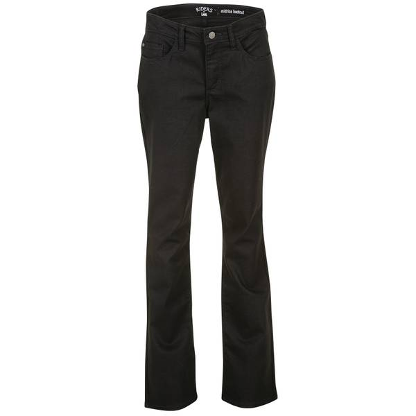 7cbde6b2ed2 Riders By Lee Misses Black Core Midrise Bootcut Jeans