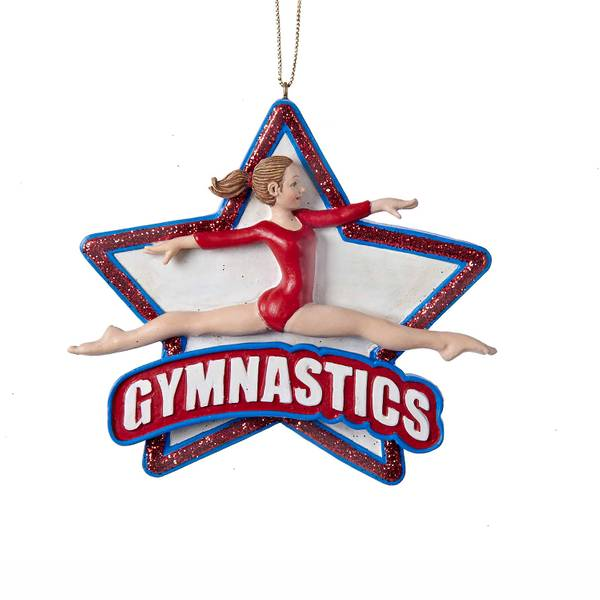 "4.25"" Resin Gymnastics Girl Ornament"