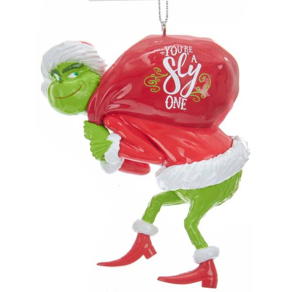Grinch with Red Sack Ornament
