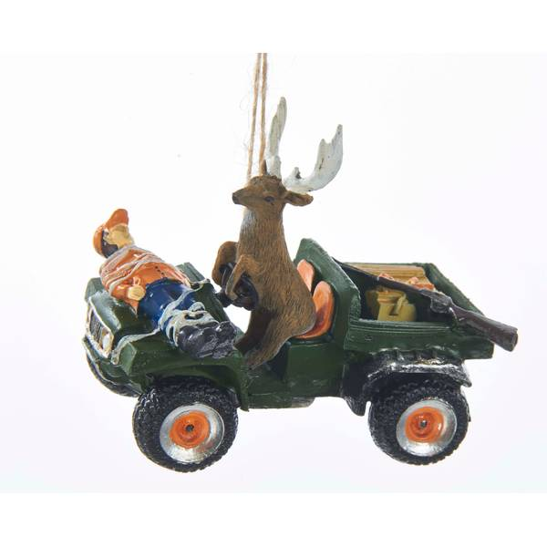 "3.25"" Deer Driving Hunter Ornament"