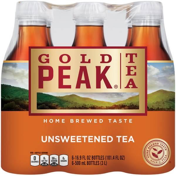 6-Pack 500ml Unsweetened Black Tea