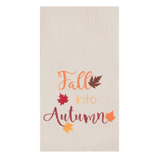 Fall Into Autumn Flour Sack Towel