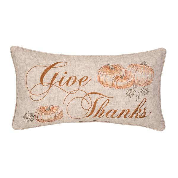 """22"""" Give Thanks Pillow"""