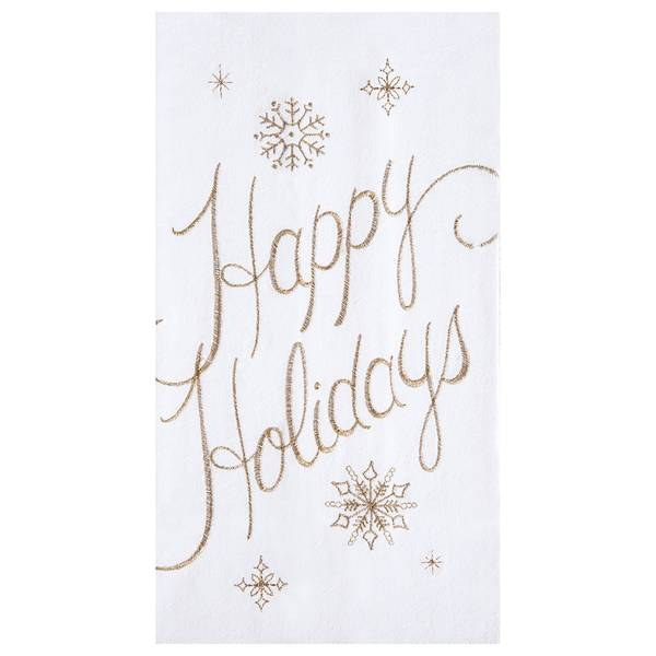 Happy Holidays Flour Sack Towel