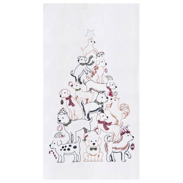 Puppy Tree Flour Sack Towel