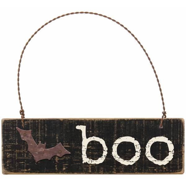 Slatted Boo Ornament