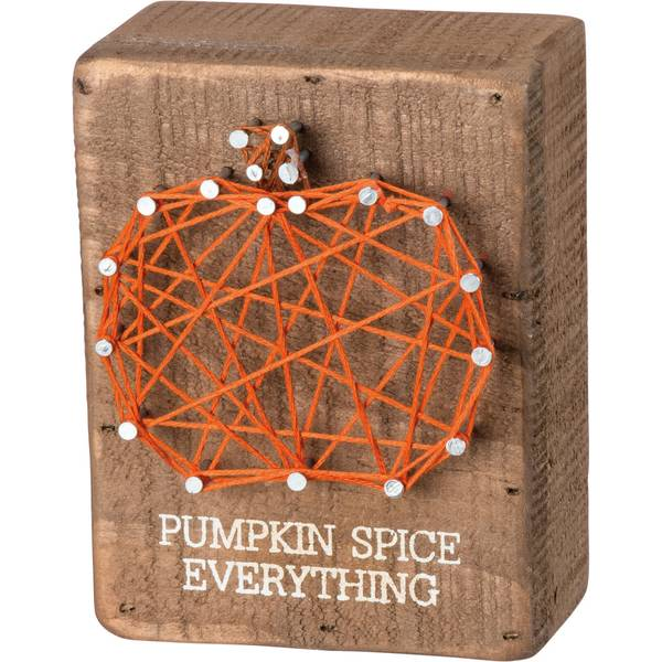 Pumpkin Spice String Art Block