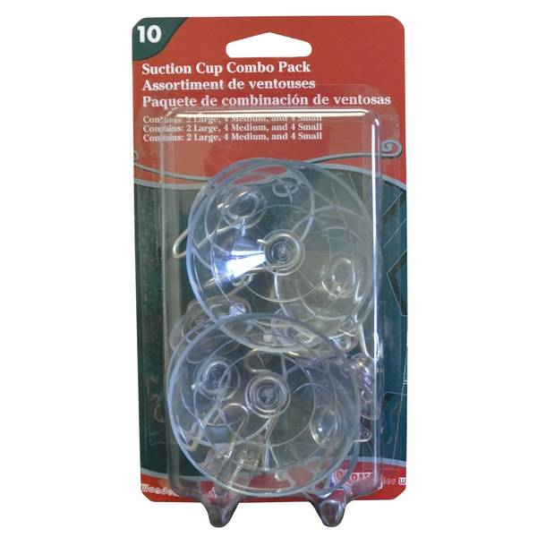 10-Piece Suction Cup Combo Pack