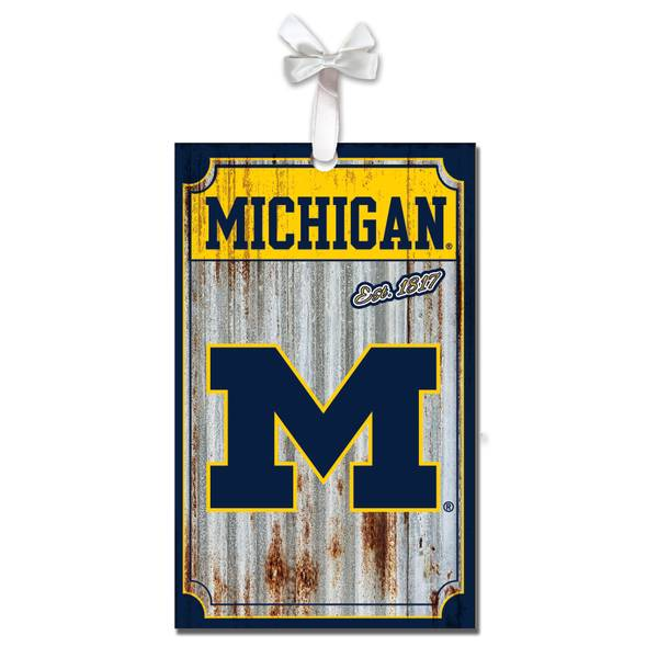 Michigan Wolverines Metal Ornament
