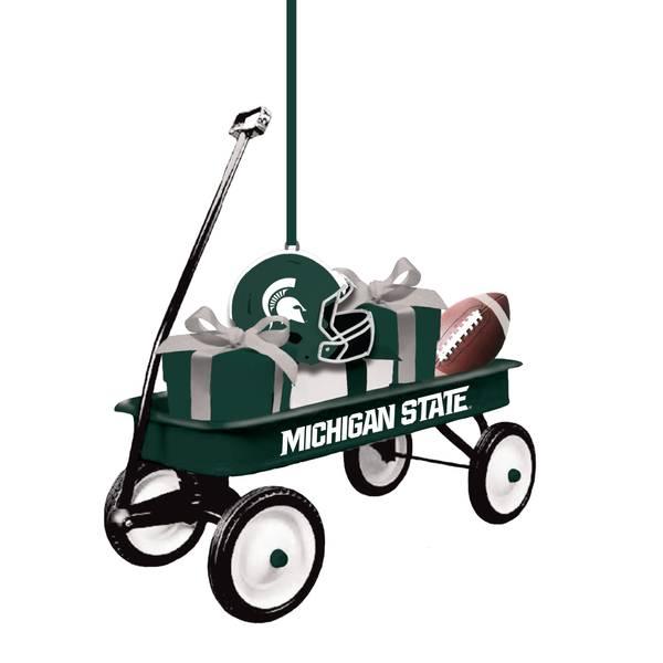 Michigan St.Spartans Team Wagon Ornament