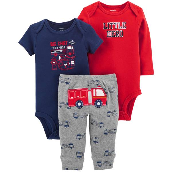 Infant Boys' Red LBB 3-Piece Firetruck TMA Set