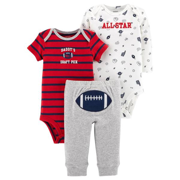 Infant Boys' Red 3-Piece TMA Set