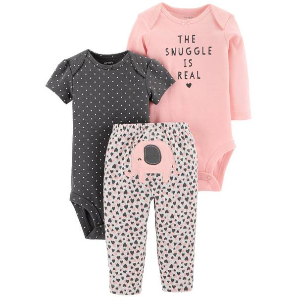 18M IG LBB 3pc TMA Set Elephant Pink