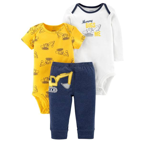 Infant Boys' Yellow Construction LBB 3-Piece TMA Set
