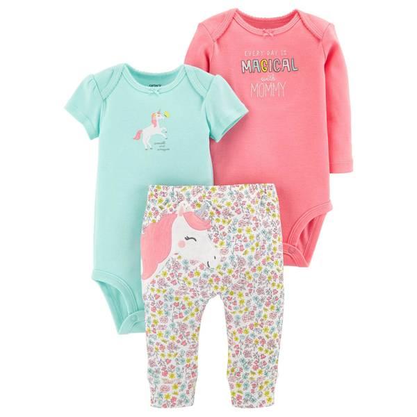 5ce005978 Carter s Baby Girls  3 Piece Unicorn Clothing Set