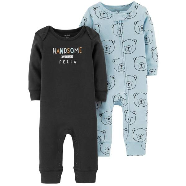 Baby Boys' 2 Pack Coveralls Set
